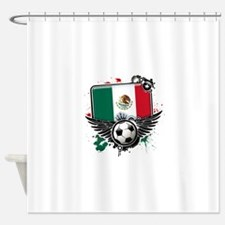 Soccer fans Mexico Shower Curtain