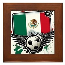 Soccer fans Mexico Framed Tile