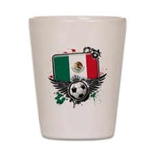 Soccer fans Mexico Shot Glass
