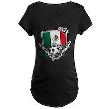 Soccer fans Mexico Maternity T-Shirt