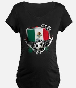 Soccer fans Mexico Maternity T-Shirt