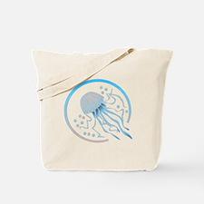 Jellyfish Circle Design Tote Bag