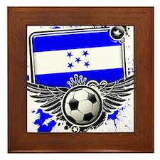 Soccer fans Honduras Framed Tile