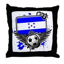 Soccer fans Honduras Throw Pillow