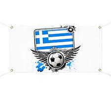 Soccer fans Greece Banner
