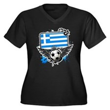 Soccer fans Greece Plus Size T-Shirt