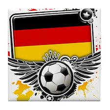 Soccer fans Germany Tile Coaster