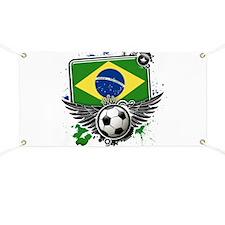 Soccer fans Brazil Banner