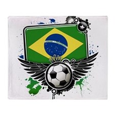 Soccer fans Brazil Throw Blanket