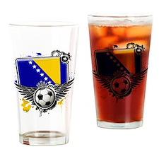 Soccer fans Bosnia Drinking Glass