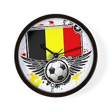 Soccer fans Belgium Wall Clock