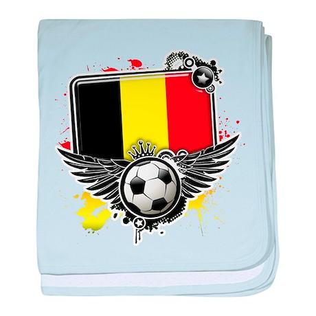 Soccer fans Belgium baby blanket