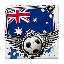 Soccer fans Australia Tile Coaster