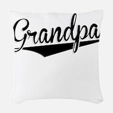 Grandpa, Retro, Woven Throw Pillow