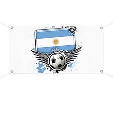 Soccer fans Argentina Banner