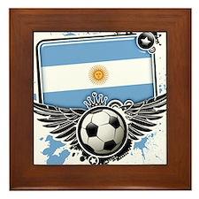 Soccer fans Argentina Framed Tile