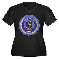 USS HECTOR Women's Plus Size V-Neck Dark T-Shirt