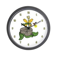 Summer Visitors Wall Clock