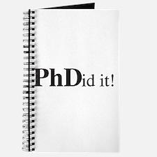PhDid It! PhD Journal