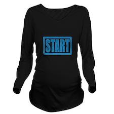 Start (Blue) Long Sleeve Maternity T-Shirt