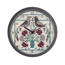 Harvest Moons Early American Quilt Wall Clock