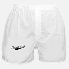 Green Bay, Retro, Boxer Shorts