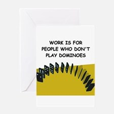 DOMINOES3 Greeting Cards
