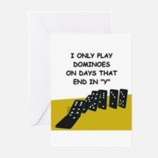 DOMINOES2 Greeting Cards