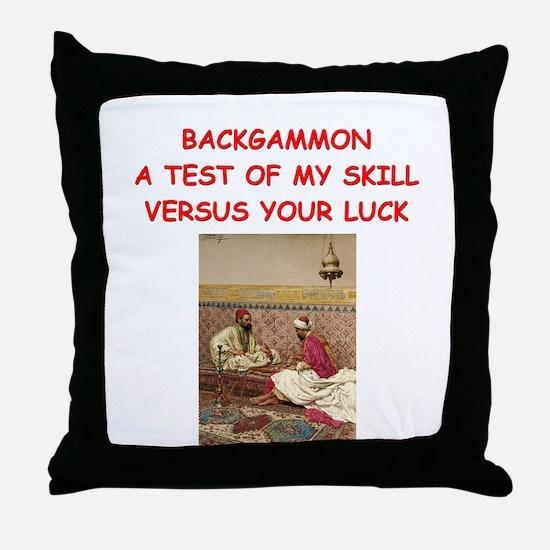 BACKGAMMON3 Throw Pillow