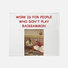 BACKGAMMON2 Throw Blanket