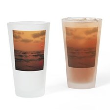 Ocean Sunset Drinking Glass