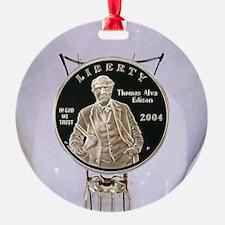 Thomas Edison Dollar Coin Ornament