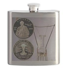 Thomas Edison Dollar Coin Flask