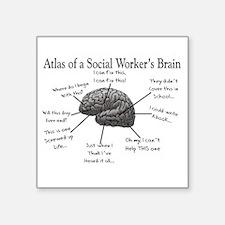 Atlas of a Social workers brain Sticker