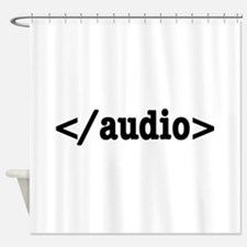 End Audio HTML5 Code Shower Curtain