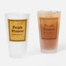 People Whisperer Drinking Glass