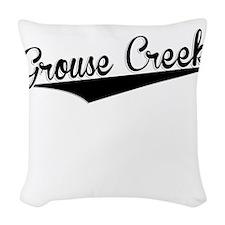 Grouse Creek, Retro, Woven Throw Pillow
