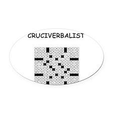 CROSSWORDS5 Oval Car Magnet