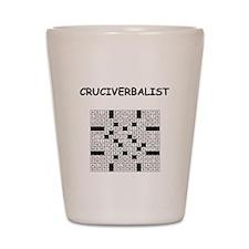 CROSSWORDS5 Shot Glass