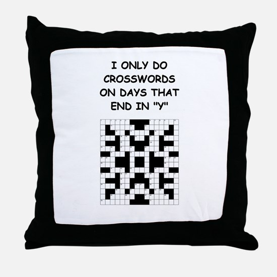 CROSSWORDS2 Throw Pillow