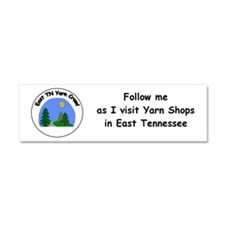 East Tn Yarn Crawl Car Magnet 10 X 3
