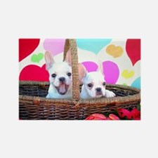 Frenchie Valentines Rectangle Magnet