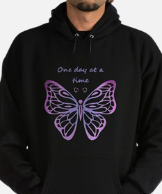 One Day at a Time Quote Butterfly Art Hoodie