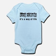 Rock Climbing it is a way of life Infant Bodysuit