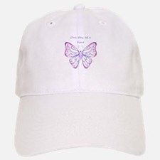 One Day at a Time Quote Butterfly Art Hat