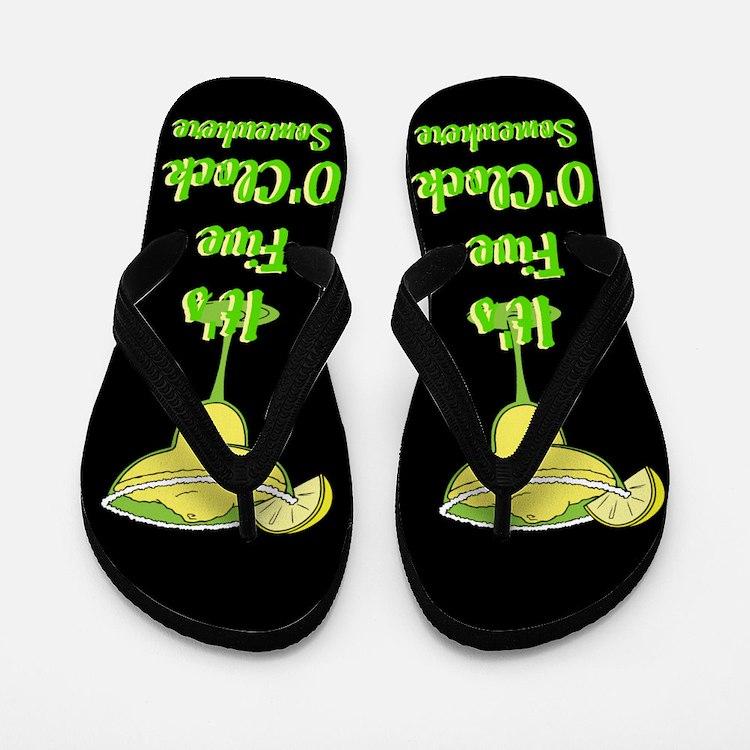 Five O'clock Somewhere - Beach Bum Flip Flops