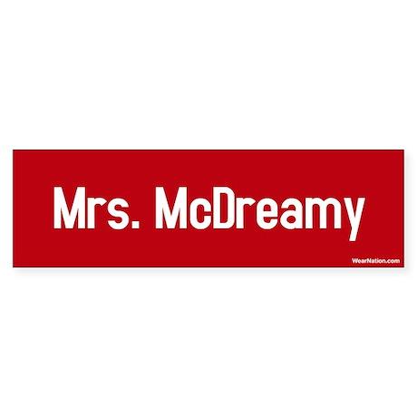 Mrs. McDreamy Bumper Sticker