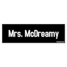 Mrs. McDreamy Bumper Bumper Sticker