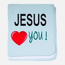 Jesus loves you baby blanket