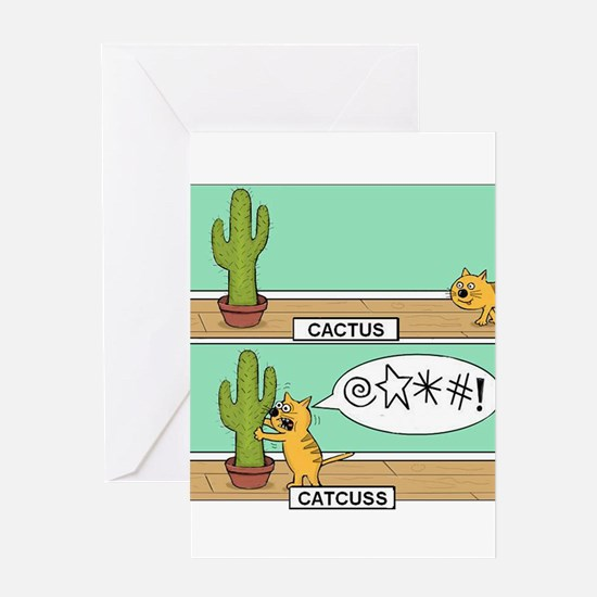Cat With A Foul Mouth Greeting Card